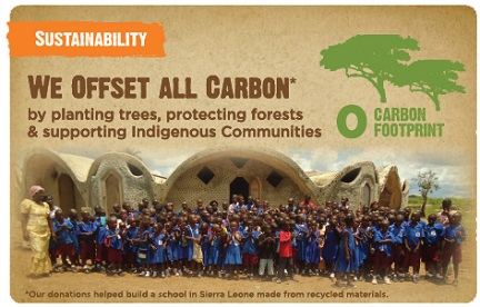 Sustainability - Carbon Neutral Products, Give 25% of Profits